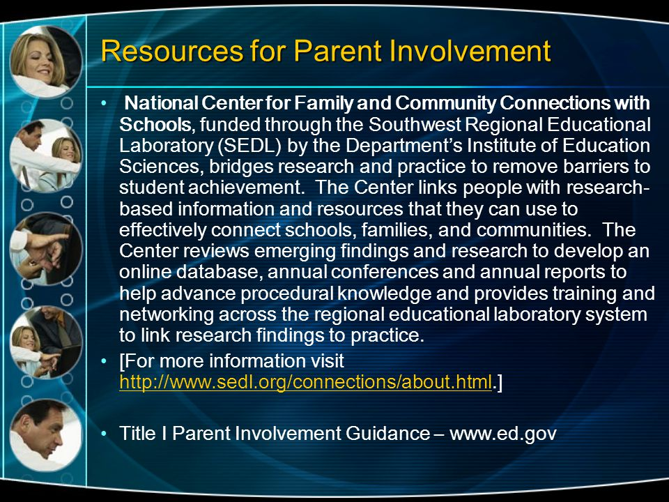 Resources for Parent Involvement