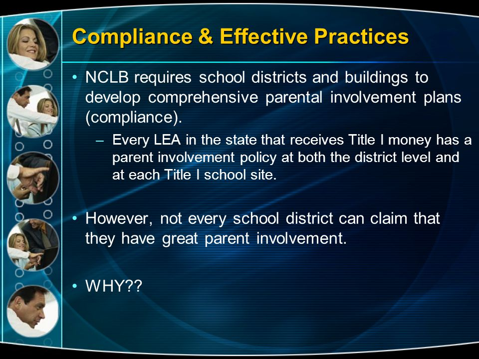 Compliance & Effective Practices