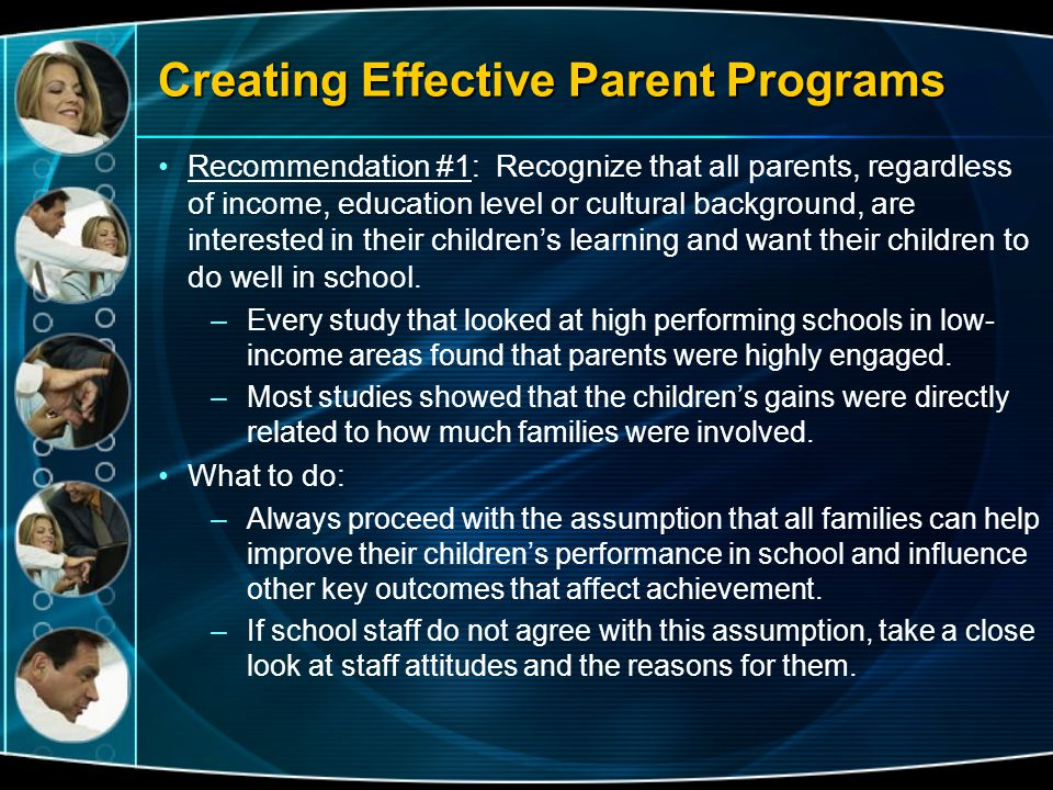 Creating Effective Parent Programs