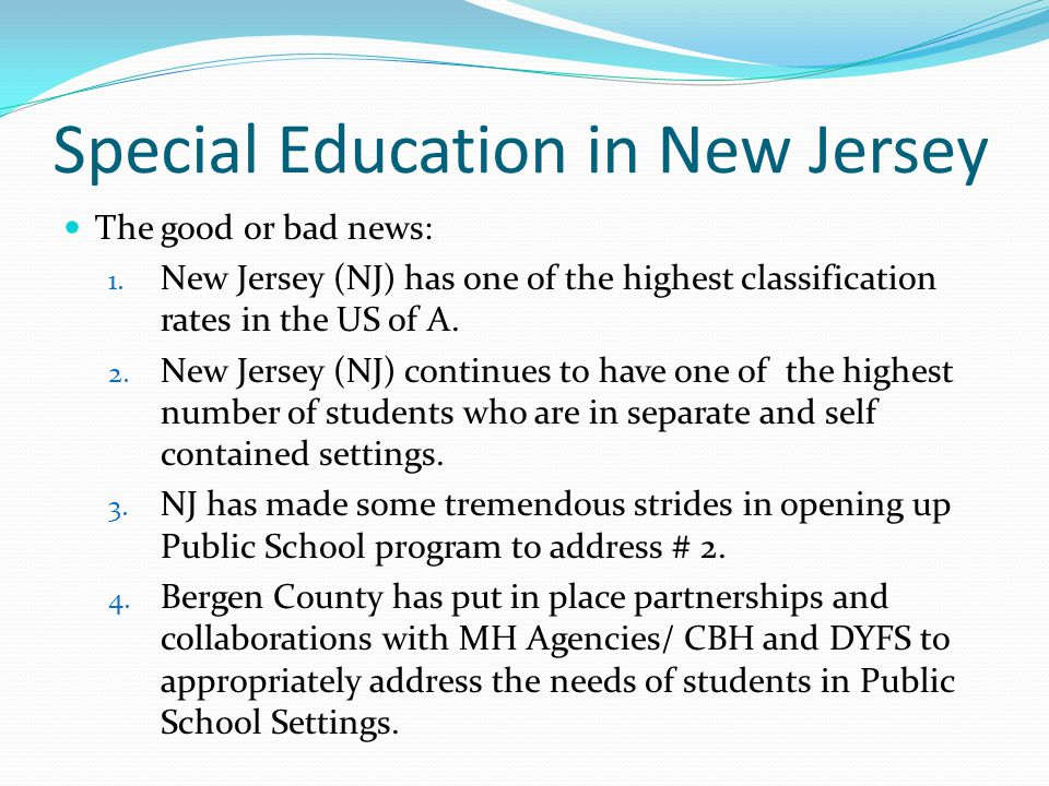 Special Education in New Jersey