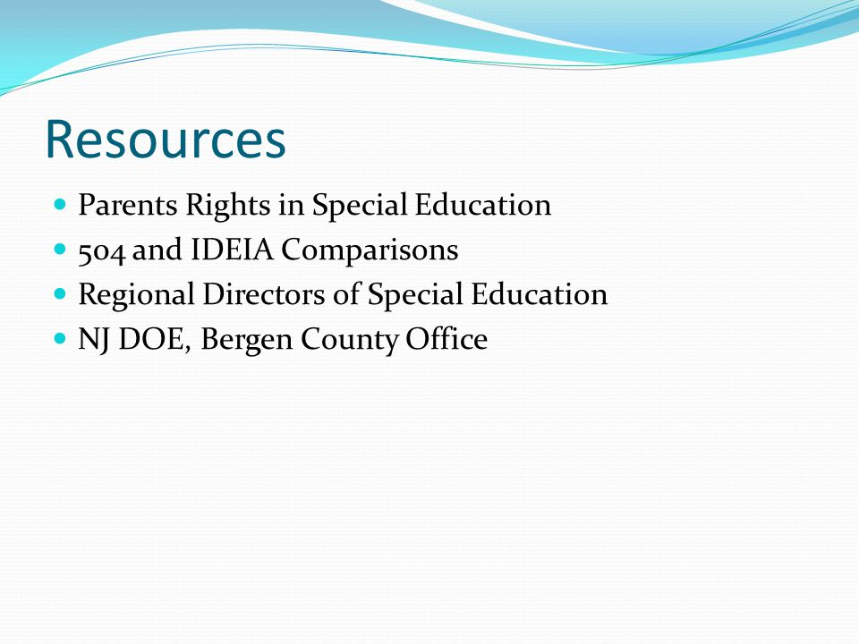 Resources Parents Rights in Special Education