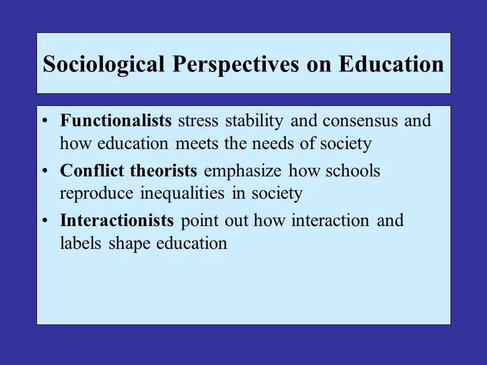 compare and contrast the functionalist and conflict perspectives on education