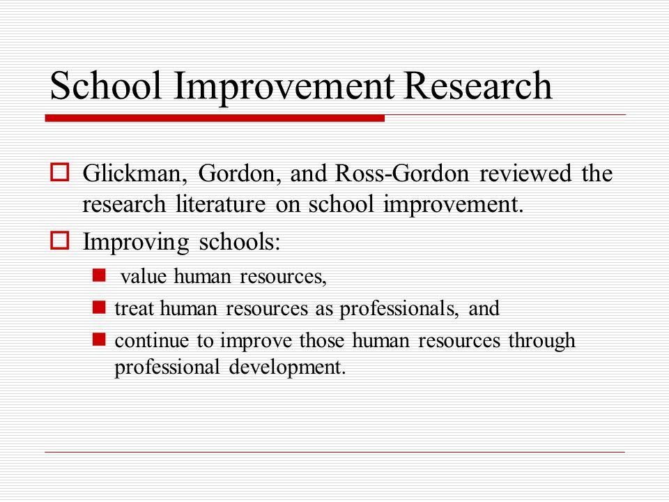 School Improvement Research
