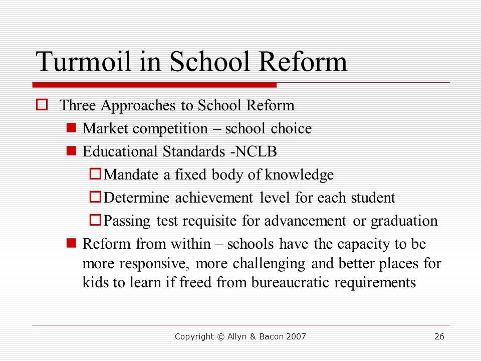 Turmoil in School Reform