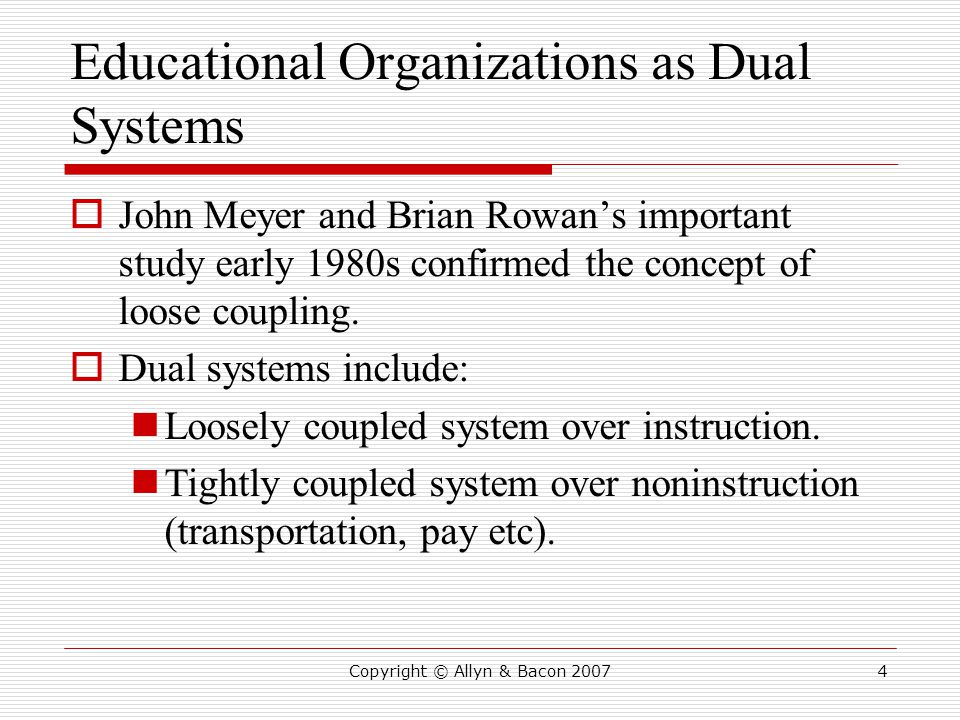 Educational Organizations as Dual Systems