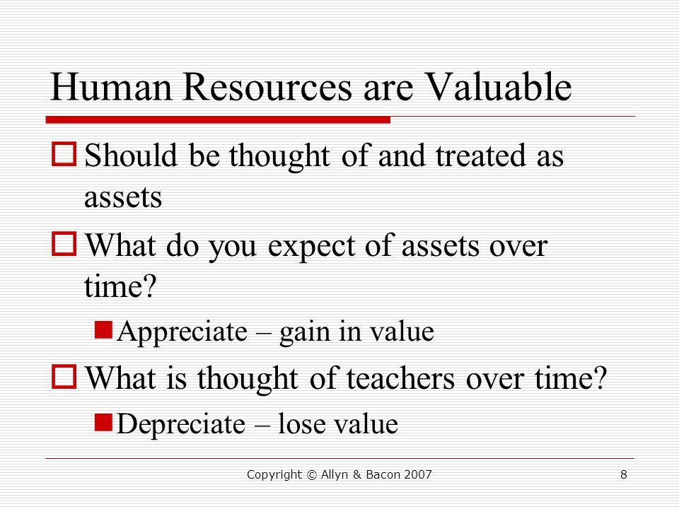 Human Resources are Valuable