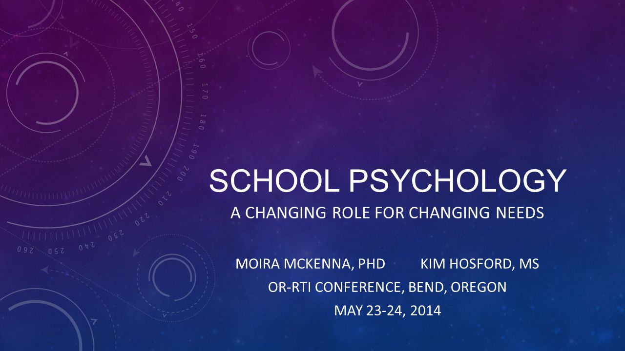 School Psychology A Changing Role for Changing Needs