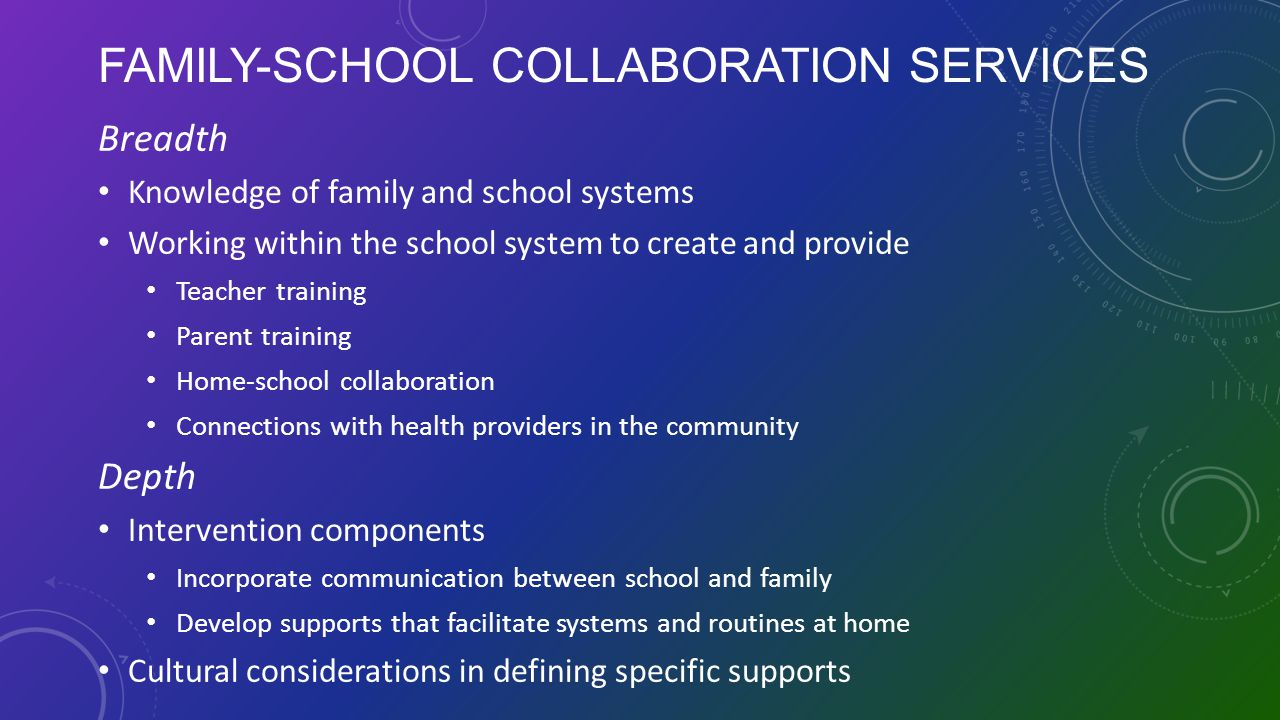 Family-School Collaboration Services