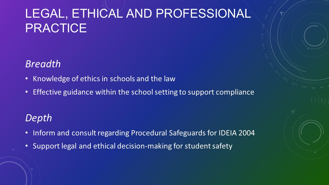Legal, Ethical and Professional Practice