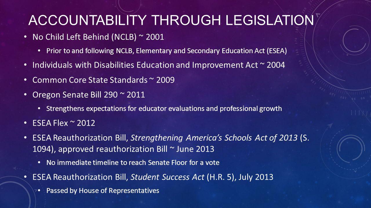 Accountability through Legislation