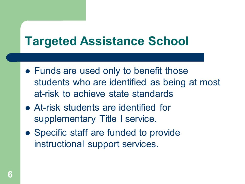 Targeted Assistance School