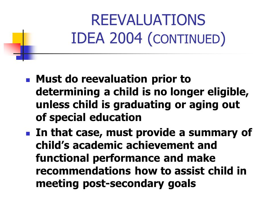 REEVALUATIONS IDEA 2004 (CONTINUED)