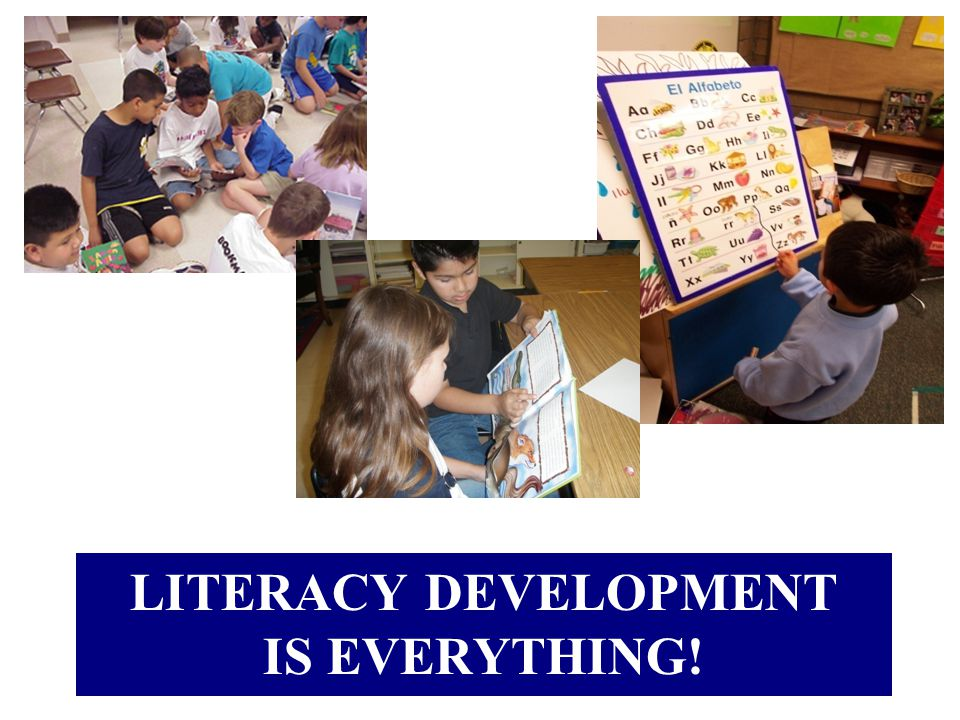 Literacy Development is everything!