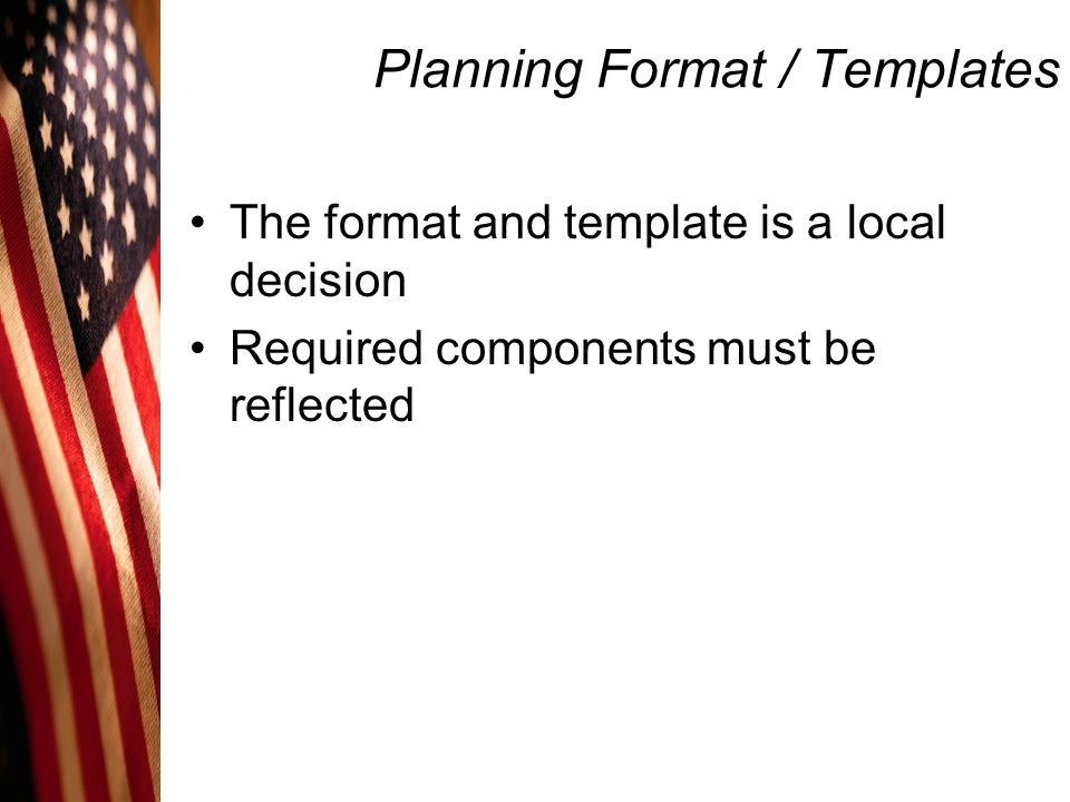 Planning Format / Templates