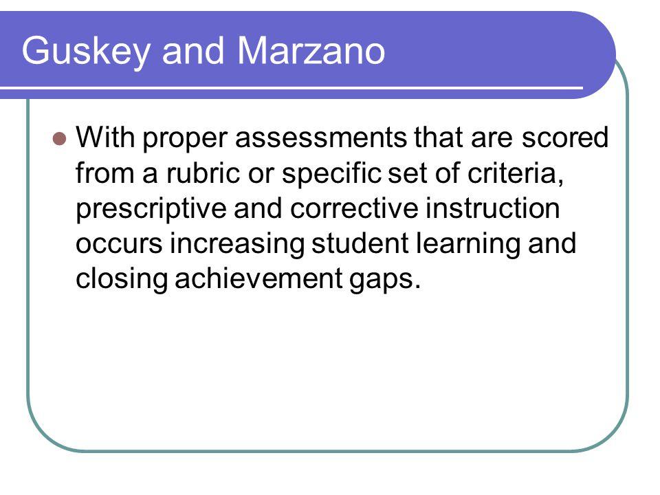 Guskey and Marzano