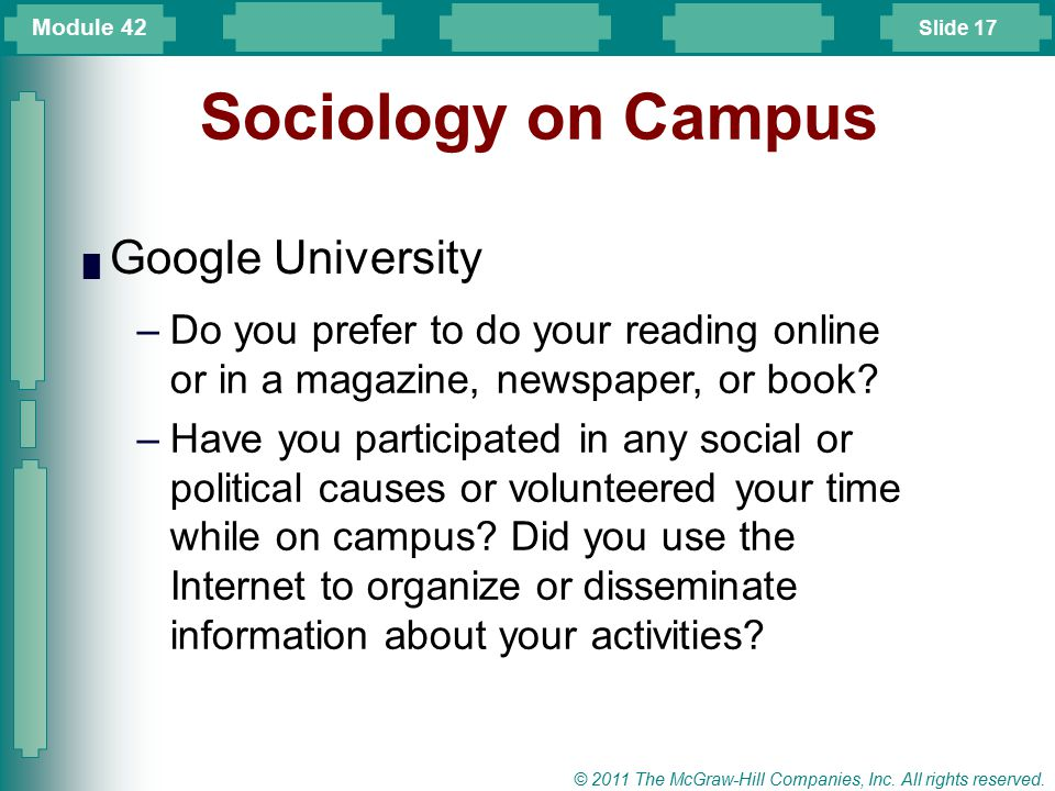 Sociology on Campus Google University