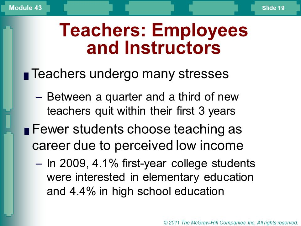 Teachers: Employees and Instructors