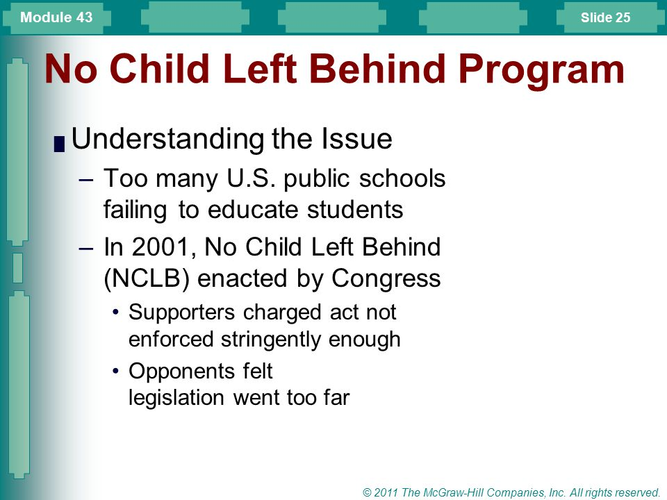 No Child Left Behind Program
