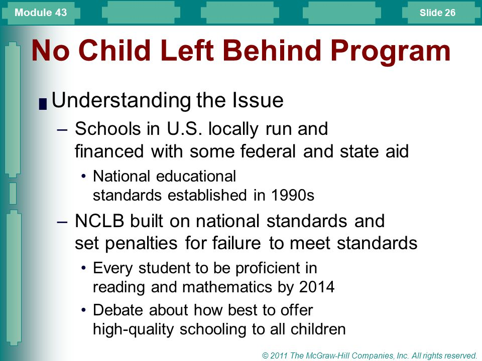 No Child Left Behind Program