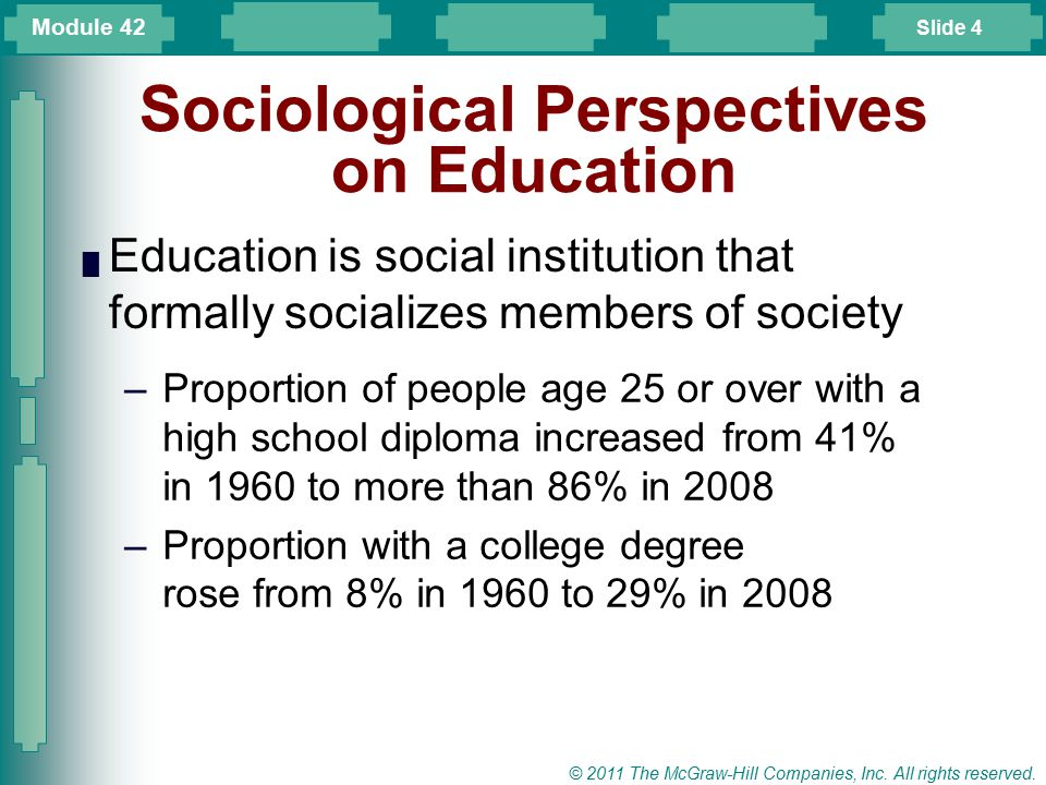 Sociological Perspectives on Education
