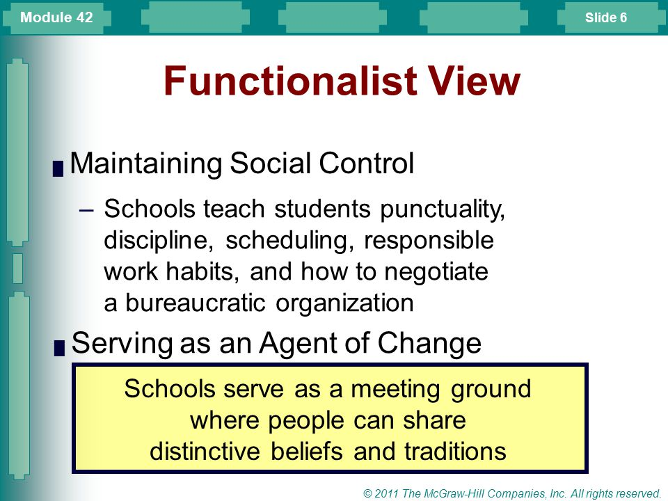 Functionalist View Maintaining Social Control