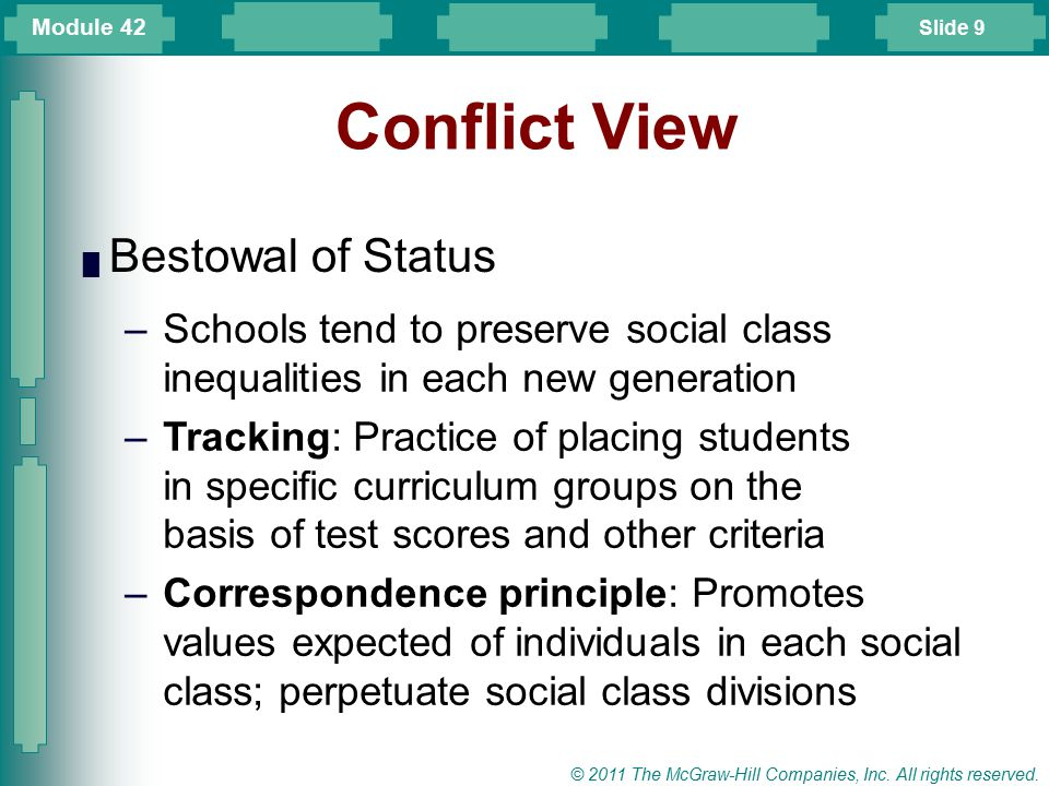 Conflict View Bestowal of Status