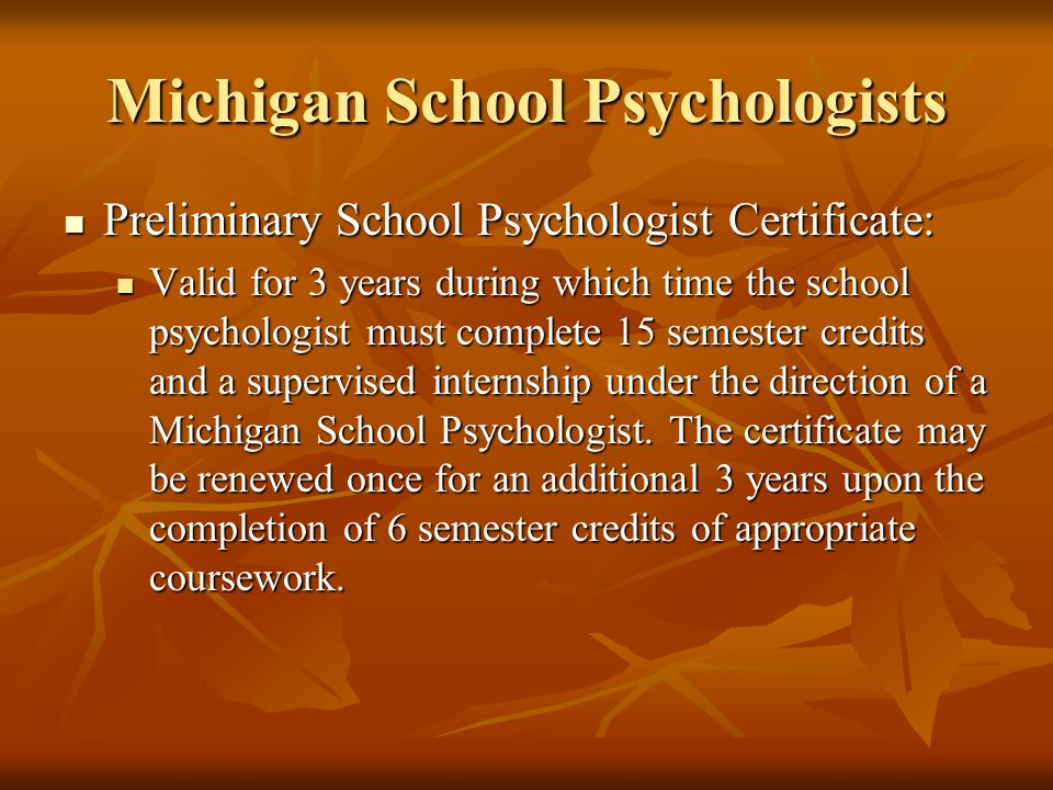 Michigan School Psychologists