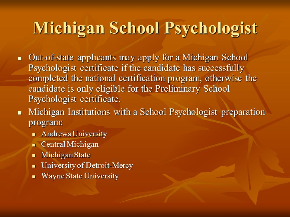 Michigan School Psychologist