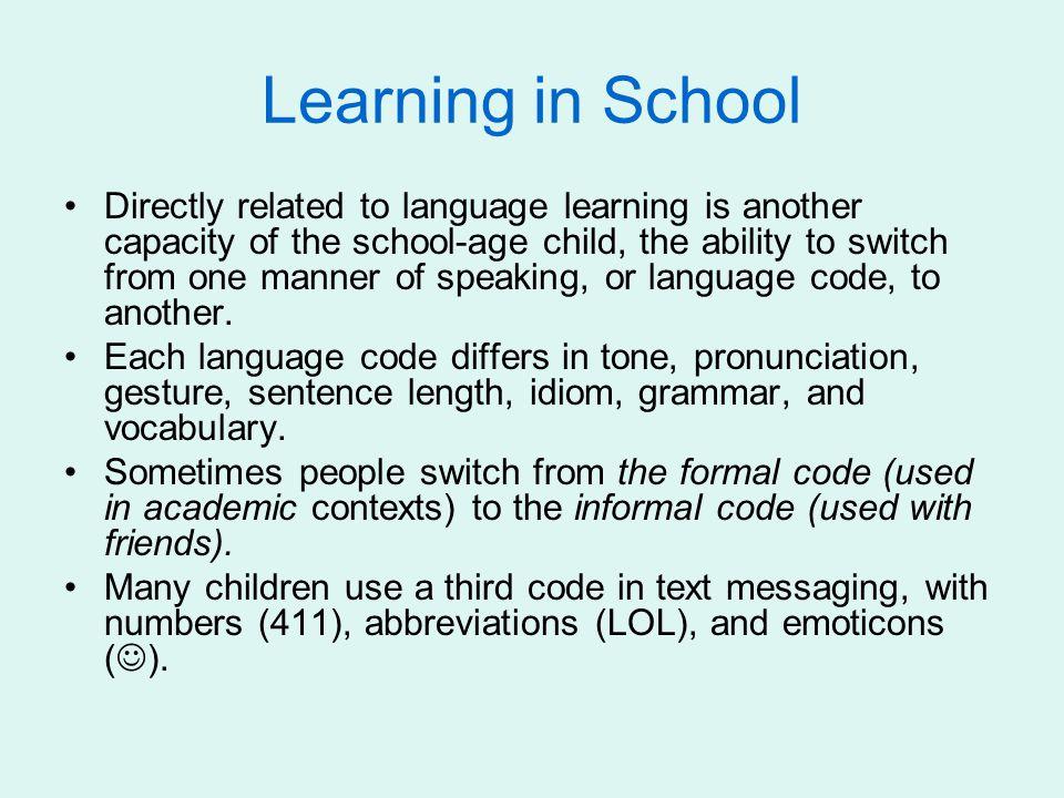 Learning in School