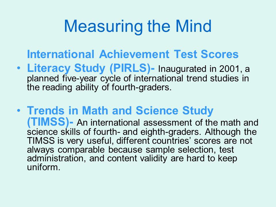 Measuring the Mind International Achievement Test Scores