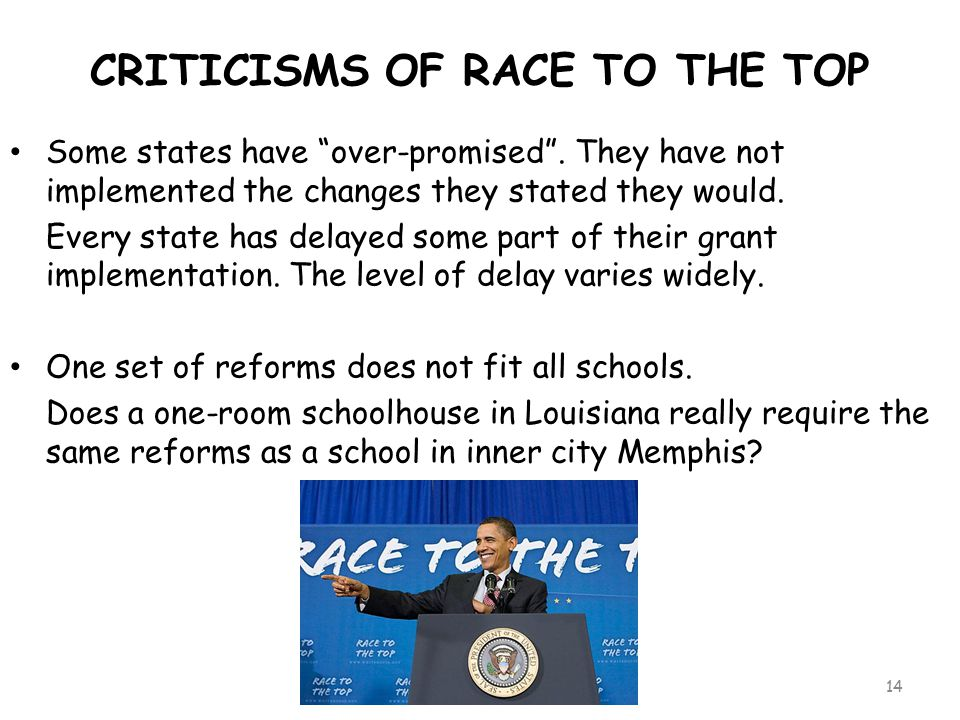 CRITICISMS OF RACE TO THE TOP