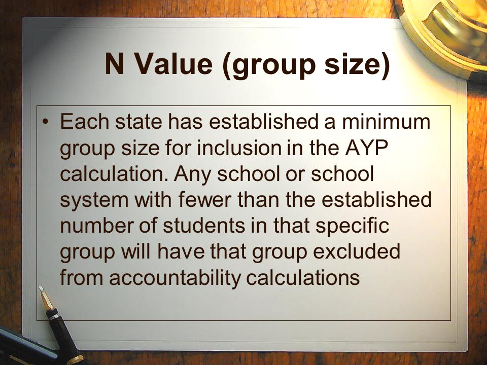 N Value (group size)