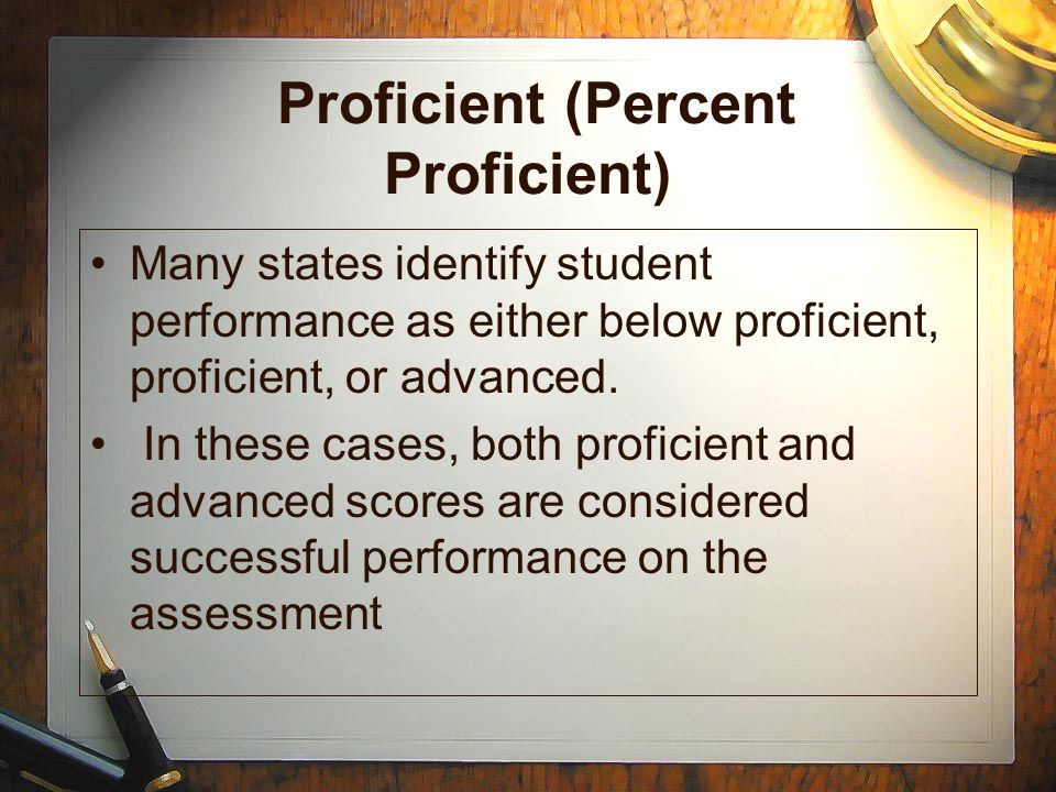 Proficient (Percent Proficient)