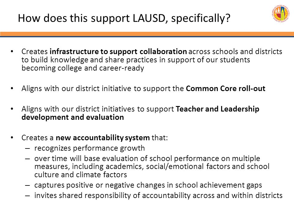 How does this support LAUSD, specifically