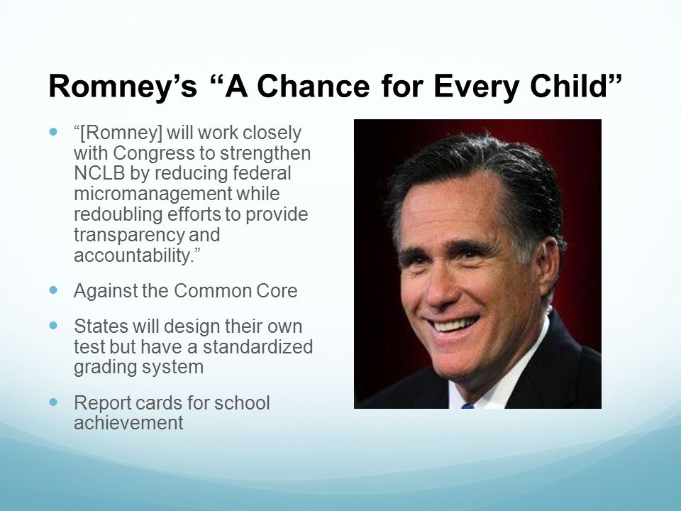 Romney's A Chance for Every Child