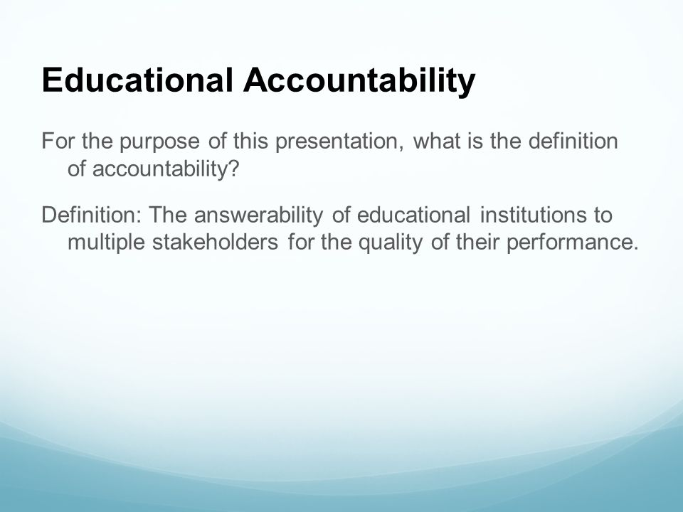 Educational Accountability