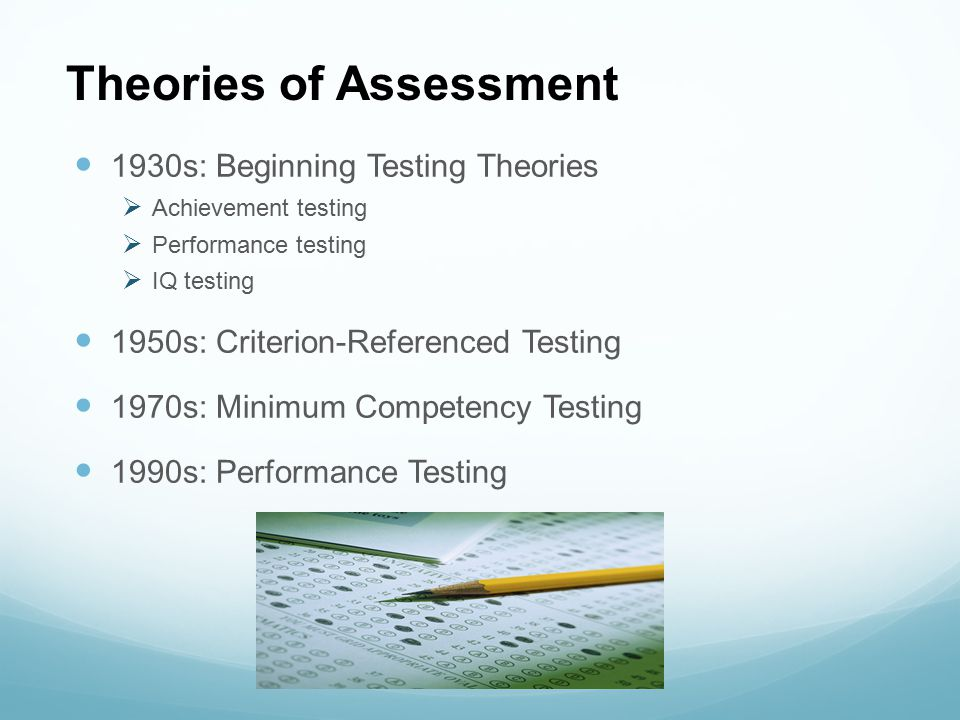 Theories of Assessment