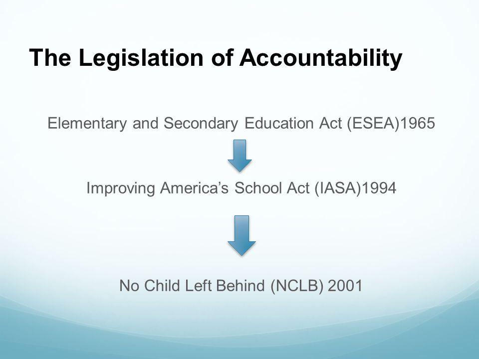 The Legislation of Accountability