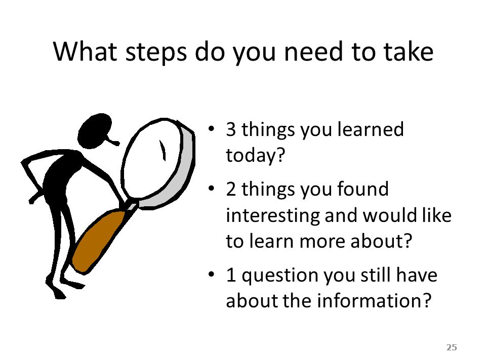 What steps do you need to take
