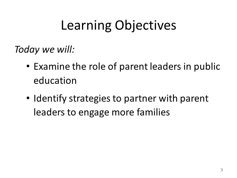 Learning Objectives Today we will:
