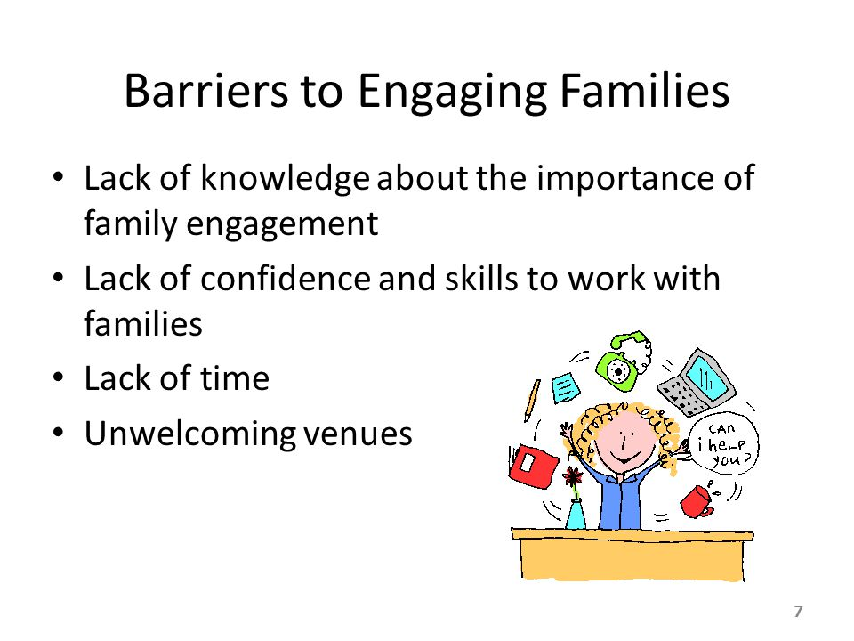 Barriers to Engaging Families