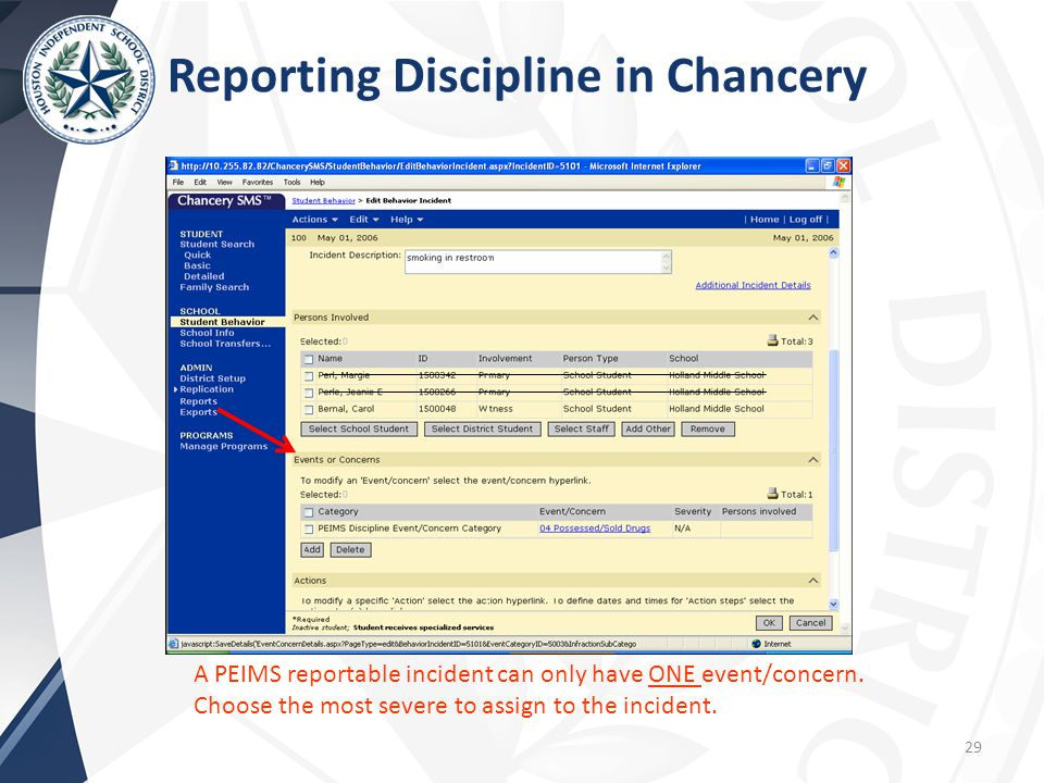 Reporting Discipline in Chancery