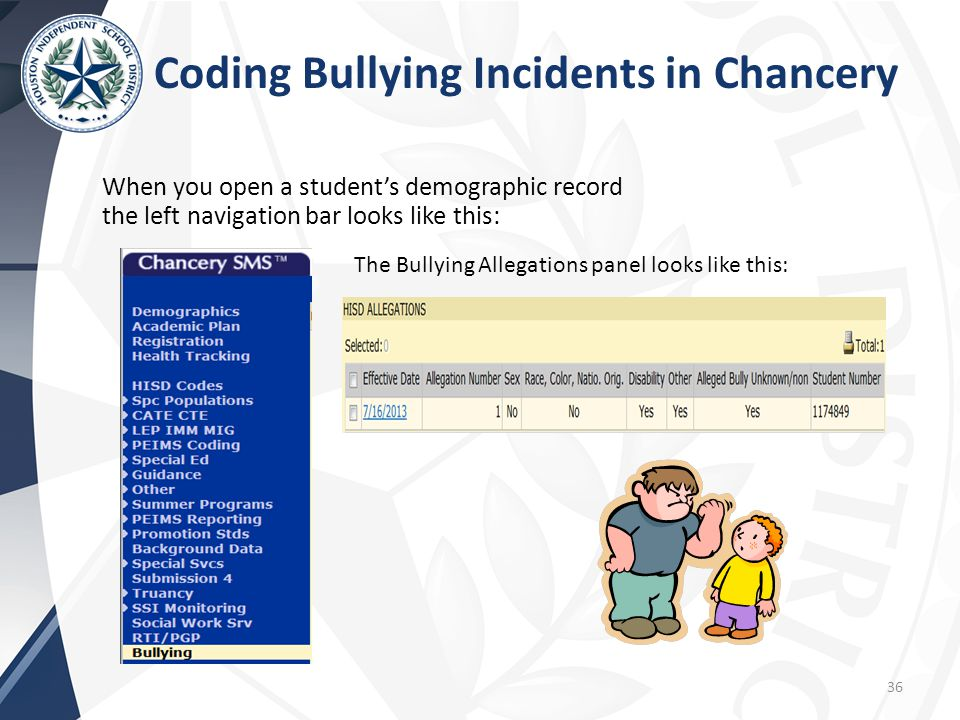 Coding Bullying Incidents in Chancery