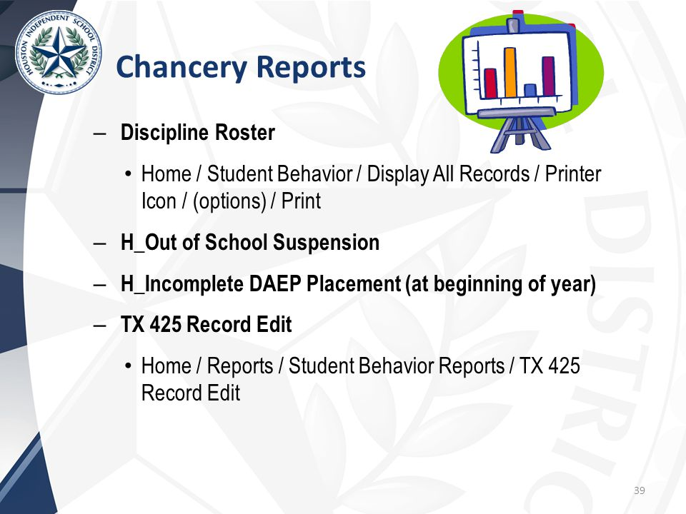 Chancery Reports Discipline Roster