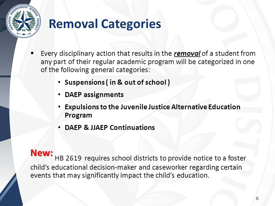 Removal Categories