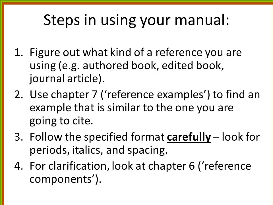 Steps in using your manual: