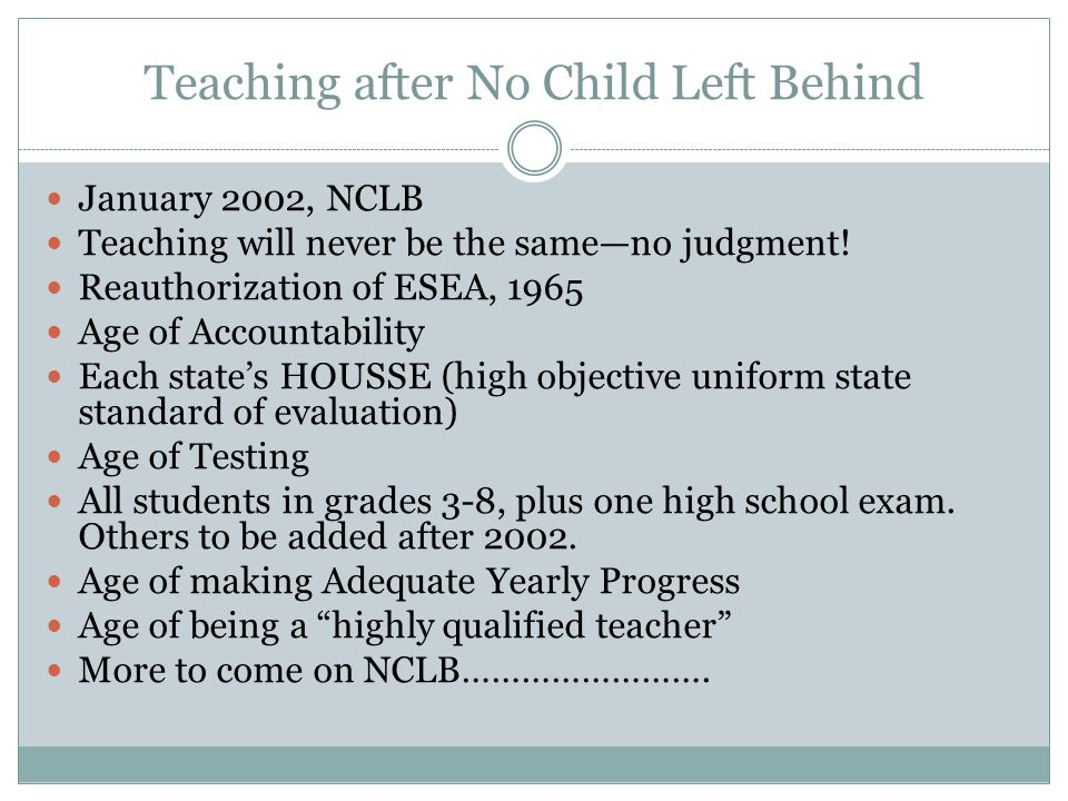 Teaching after No Child Left Behind