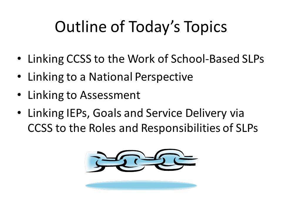 Outline of Today's Topics