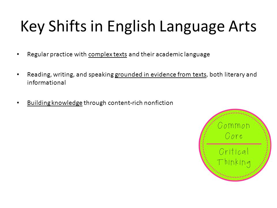 Key Shifts in English Language Arts
