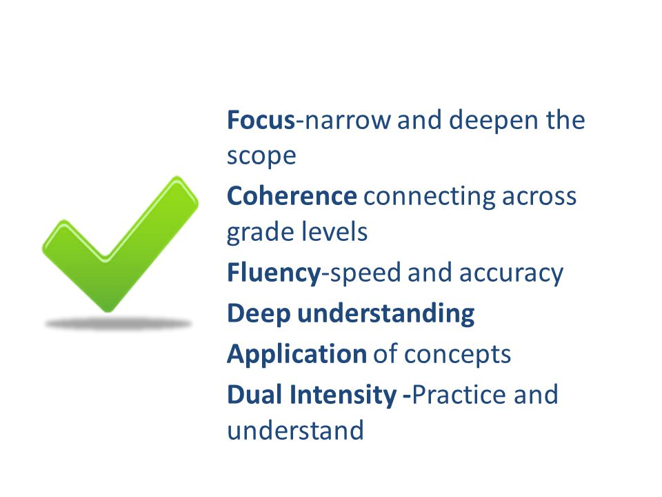 Focus-narrow and deepen the scope
